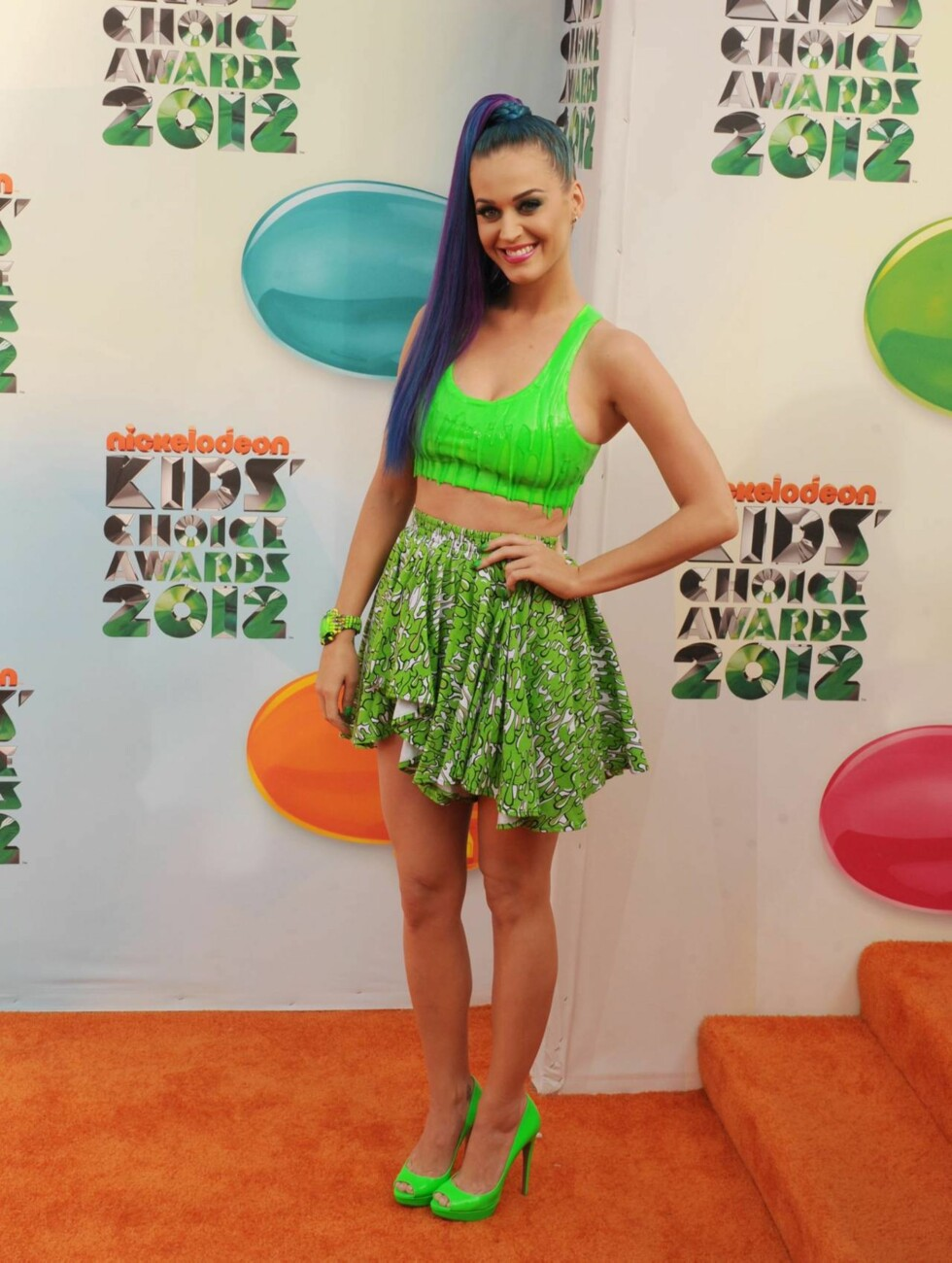 (March 31, 2012 - Los Angeles, CA)..Katy Perry pictured..Nickelodeons 25th Annual Kids Choice Awards held at USCs Galen Center  P by: James mes K. Murphy/Loud & Clear Code: 4025  COPYRIGHT STELLA  PICTURES Foto: Stella Pictures
