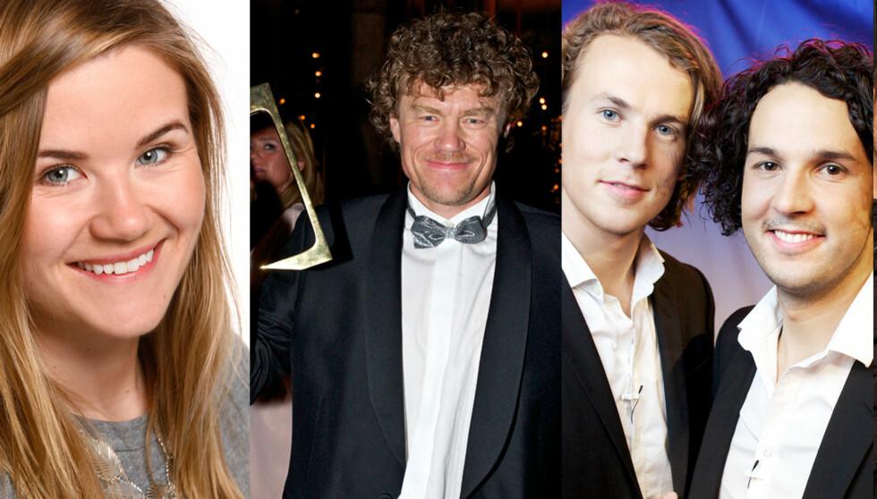 EN AV DEM KAN BLI ÅRETS TV-NAVN: Live Nelvik, Lars Monsen og Bård og Vegard Ylvisåker.