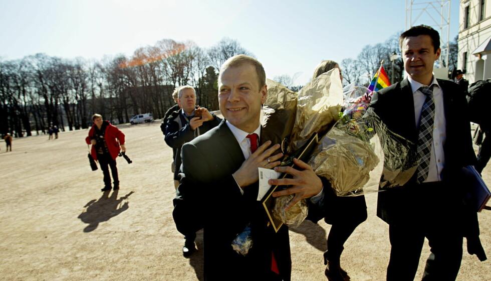 FRIDDE PÅ BADET: Heikki Holmås hoppet fra timeteren etter at han fridde til sin kjære. Foto: Scanpix