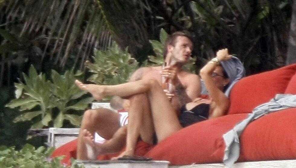 FERIE-LØGN: I forrige uke hevdet Victoria at hun ikke hadde hatt ferie på tre år, til tross for at hun hadde to måneder fri i fjor, og har vært i både St. Tropez og ved Como-sjøen i Italia.  Foto: All Over Press