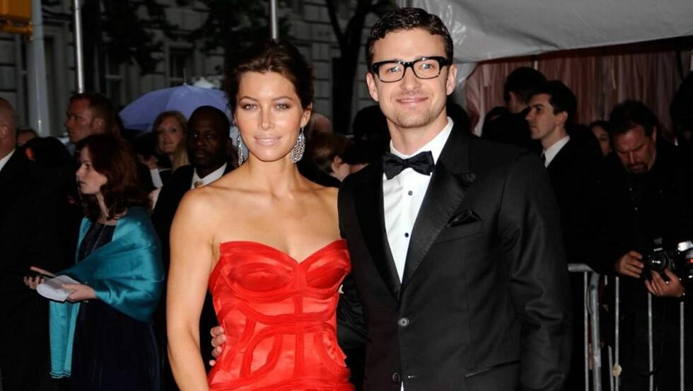 GIFTER SEG I SOMMER: Jessica Biel og Justin Timberlake planlegger et stort sommerbryllup.  Foto: All Over Press
