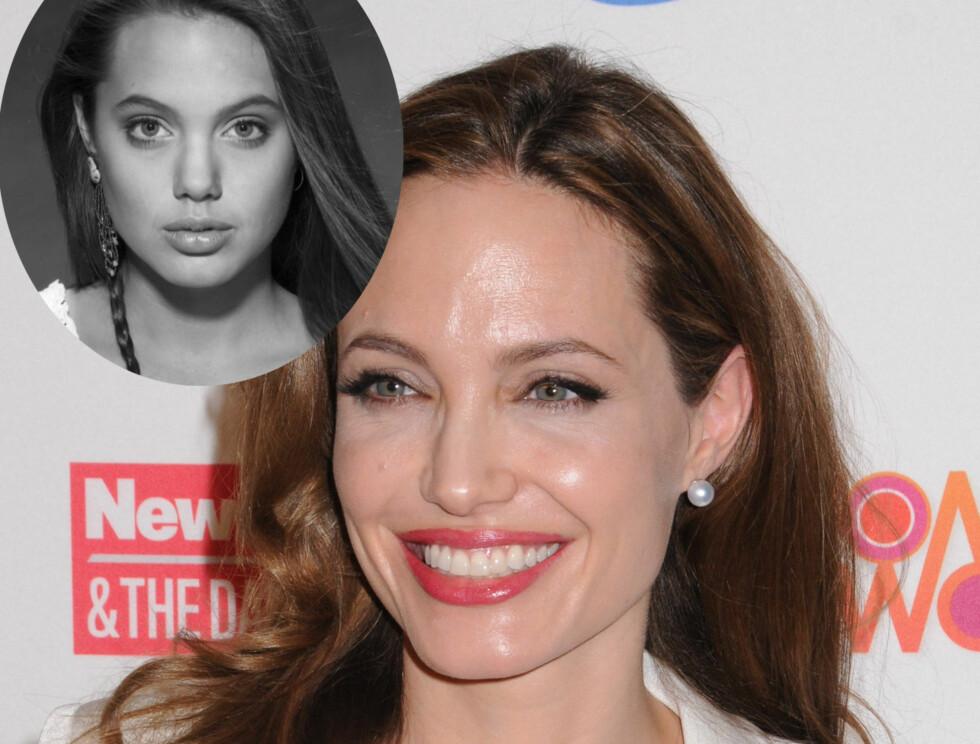 IKKE OPERERT: Kirurgen tror ikke vakre Angelina Jolie har operert nesen.  Foto: All Over Press