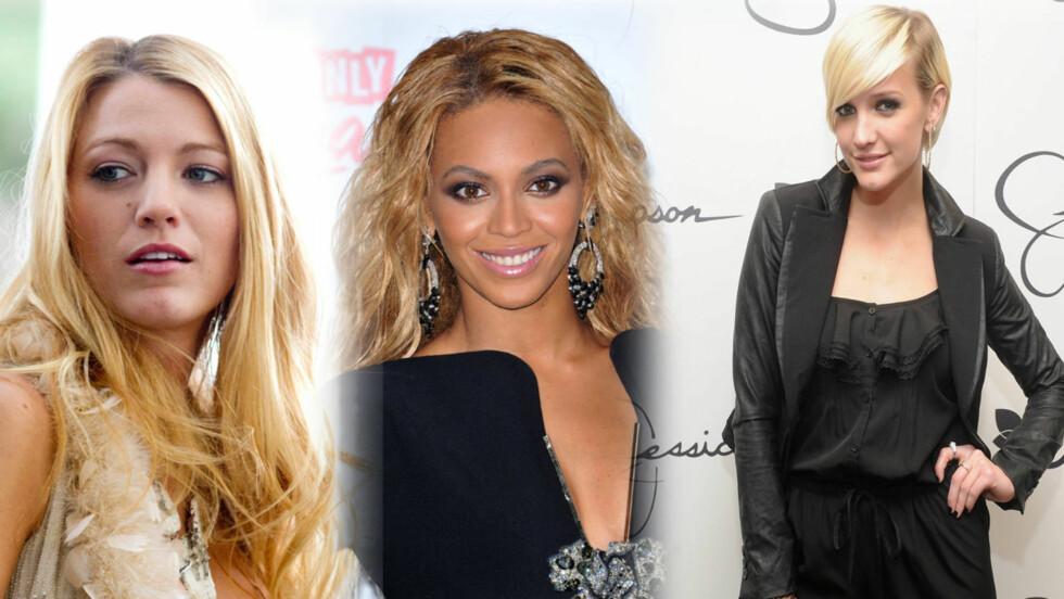 FIKSET PÅ UTSEENDE: En annerkjent amerikansk kirurg har studert bilder av blant andre Blake Lively, Beyoncé og Ashlee Simpson for å se om de har operert seg.  Foto: Stella Pictures/All Over Press