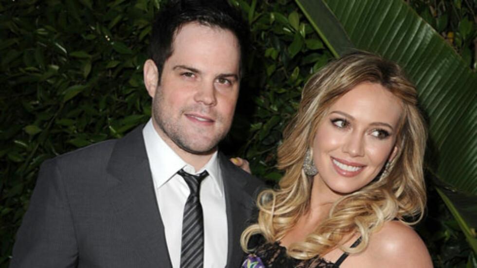 BLE FORELDRE: Tirsdag kveld ble Hilary Duff og ektemannen Mike Comrie foreldre til en liten gutt.  Foto: All Over Press