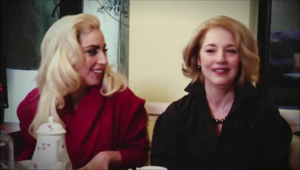 MED MAMMA: Lady Gagas mor, Cynthia Germanotta, var også med i Oprah-intervjuet, der superstjernen snakket om sin vanskelige barndom og ønsket om egne barn. Foto: Stellapictures