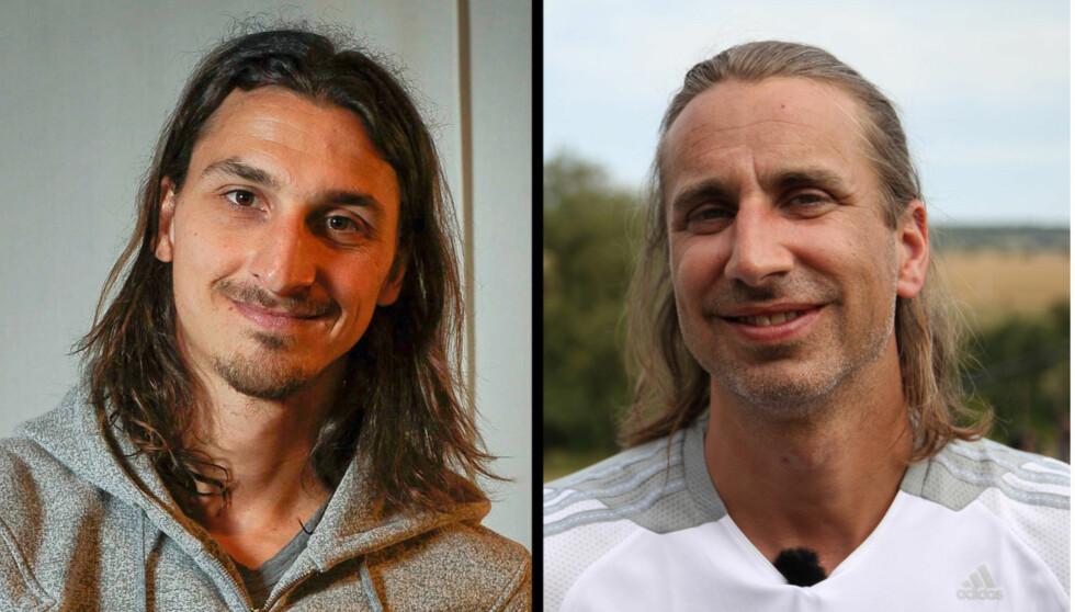 <strong>LIKHET:</strong> At Zlatan Ibrahimovic og Sune Wentzel ligner på hverandre er det liten tvil om. Foto: All Over Press / NRK