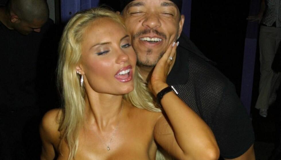 <strong>FESTET I LONDON:</strong> Stemningen var høy da Nicole «Coco» Austin og hennes ektemann, rapperen Ice-T festet på London-nattklubben Chinawhite lørdag. Foto: All Over