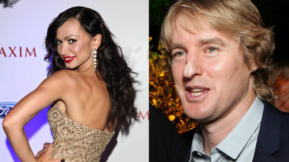 NYTT PAR: Owen Wilson har vært på flere dater med vakre Karina Smirnoff.