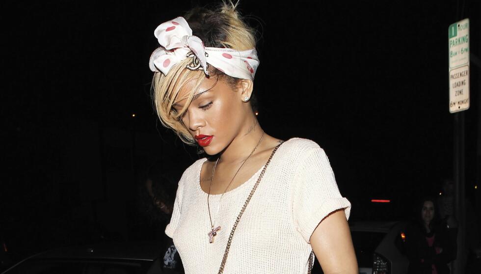 HEMMELIG BESØK: Natt til torsdag snek popstjernen Rihanna seg inn til Ashton Kutcher.  Foto: All over press
