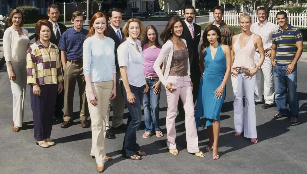 <strong>DREPER FLER:</strong> Mange av skuespillerne på dette bildet er blitt borte fra TV-skjermen de siste årene. Nå avsløres det at enda en av de mest fremtredende rollene i Frustrerte fruer skal tas liv av.  Foto: All Over Press