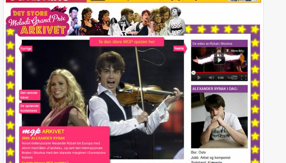 NOMINERT: Seoghør.nos MGP-arkiv er nominert til pris under årets mediedager i klassen «Innovasjon» for nettet. Foto: faksimile