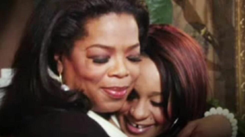SNAKKER UT: Whitney Houstons datter Bobbi Kristina snakker ut om morens dødsfall for første gang under et intervju med Oprah Winfrey.  Foto: OWN