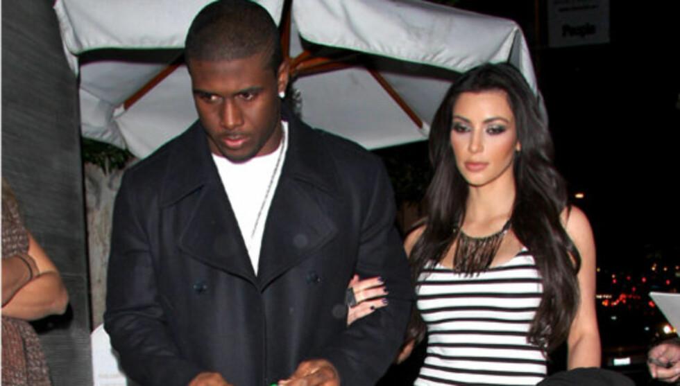 <strong>BARE VENNER:</strong> Reggie Bush skal ha gjort det klart at han kun ønsker vennskap med eksen Kardashian. Foto: All Over Press