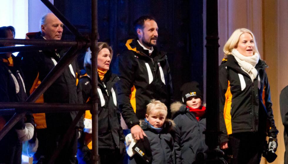 HEMMELIG SKIFEST: Prinsesse Ingrid Alexandra og prins Sverre Magnus deltok i helgen på Barnas Holmenkolldag - uten at noen visste det. Bildet er fra ski VM i fjor.  Foto: Stella Pictures