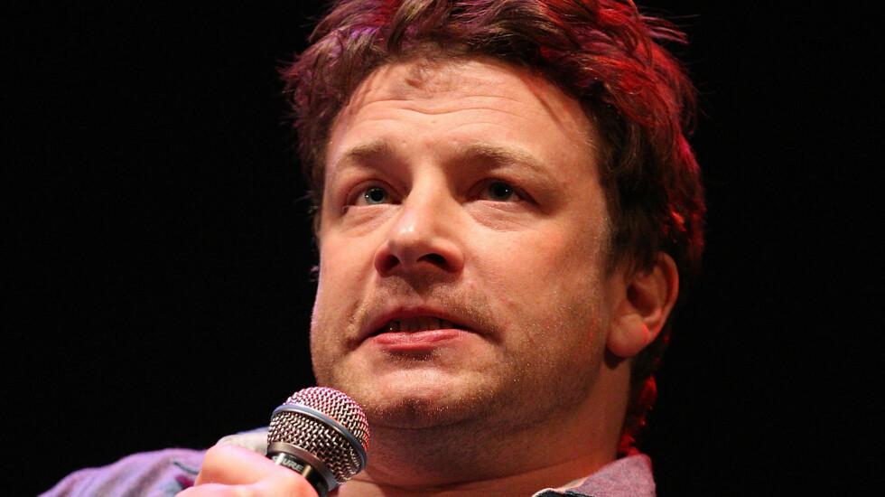<strong>SINT:</strong> Jamie Oliver likte dårlig at en reporter spurte om han hadde lagt på seg.  Foto: All Over Press
