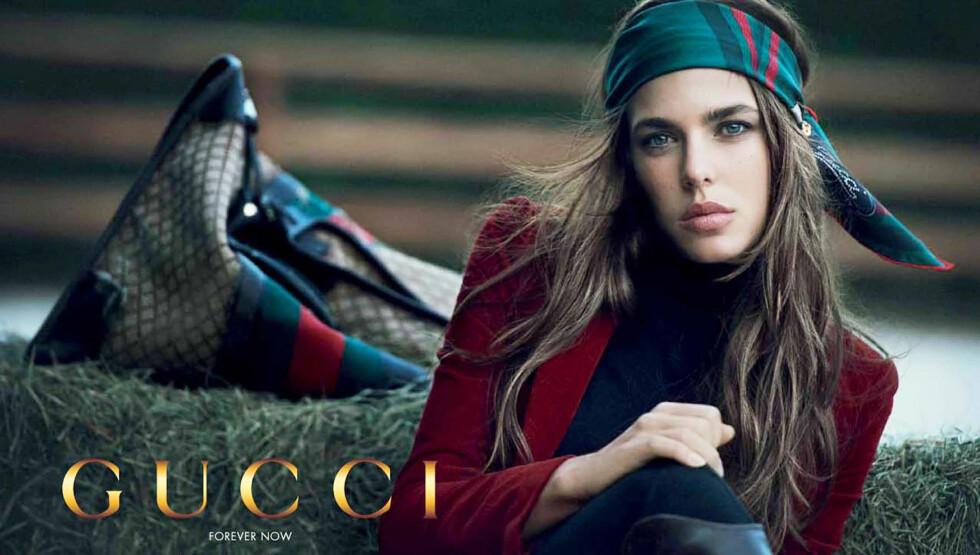 GUCCI-PIKE: Det 25 år gamle barnebarnet til Grace Kelly, Charlotte Casiraghi, har nå fått avtale med Gucci.  Foto: Stella Pictures