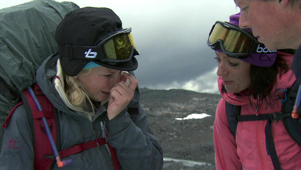 <strong>BRØT UT I TÅRER:</strong> Smertene gjorde at Klemetsen begynte å gråte. Foto: TVNorge