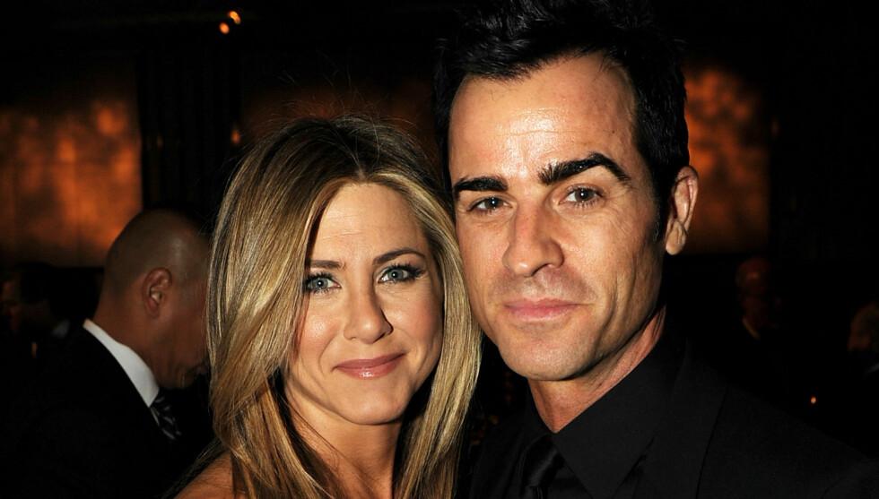 GIFTER SEG?: Jennifer Aniston og Justin Theroux er svært forelsket, og ifølge venner et det bare et tidsspørsmål før det blir et bryllup mellom de to. Foto: All Over Press