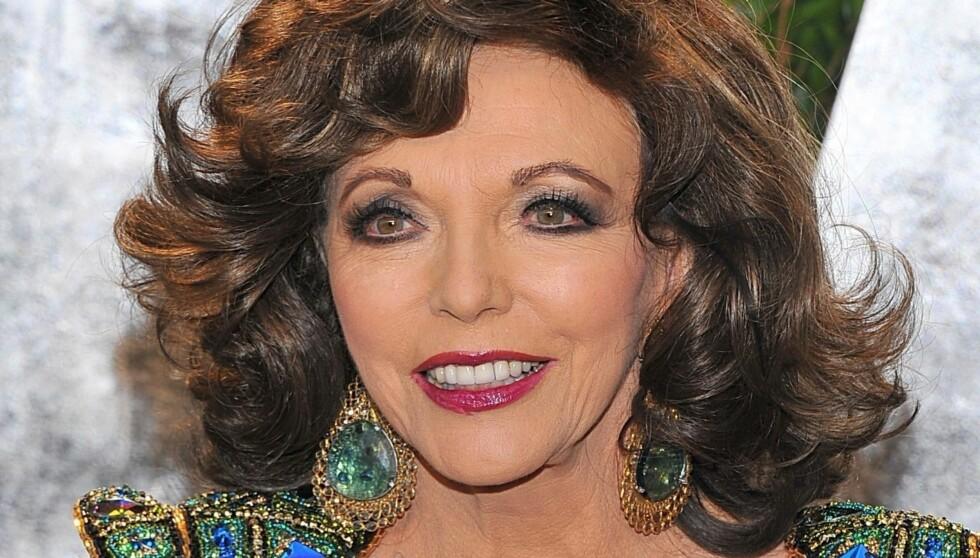 HAR FUNNET UNGDOMSKILDEN?: Hvem skulle tro at Joan Collins blir 80 år neste år? Foto: Stella Pictures