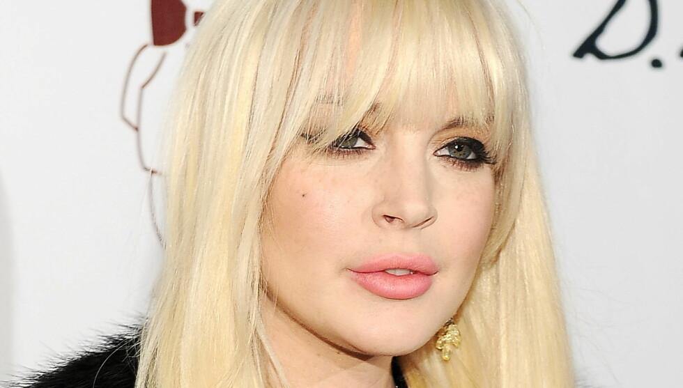 OPPBLÅST: Eksperter mener Lindsay har fått sprøytet inn fyllere i både kinn og lepper og operert nesen. Hun ser langt eldre ut enn sine 25 år. Foto: All Over Press
