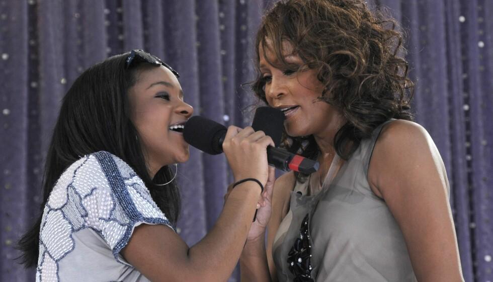 <strong>RUSET SEG:</strong> Bobbi Kristina Brown er knust etter moren Whitney Houstons tragiske dødsfall, og skal ha ruset seg kun timer etter begravelsen på lørdag.  Foto: All Over Press