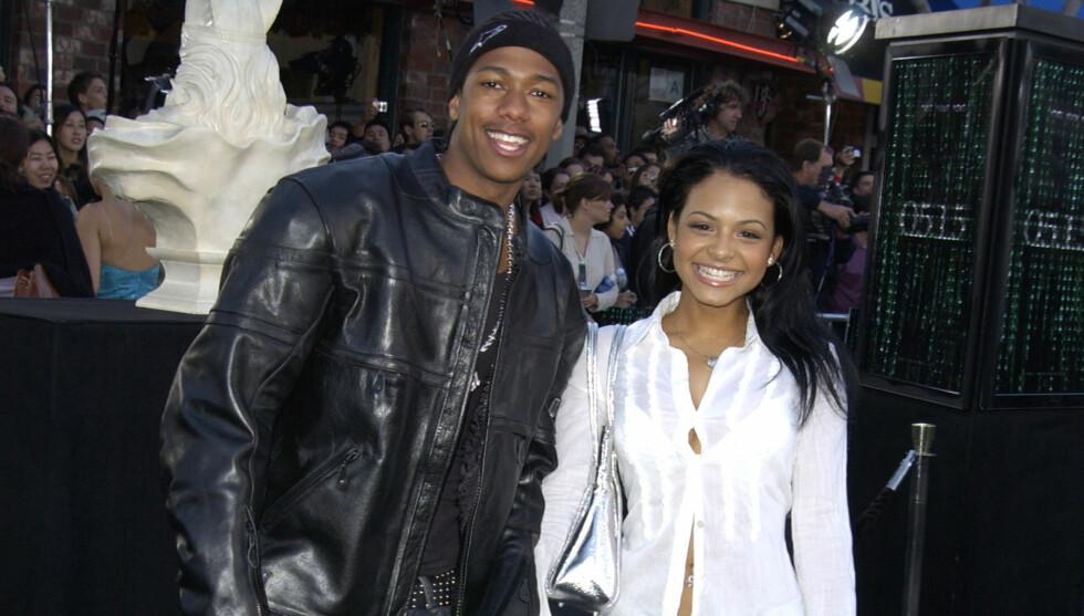 BA OM UNNSKYLDNING: Det ble slutt mellom Cannon og Christina Milian i 2005, etter at Cannon var utro. Dette bildet er fra 2003. Foto: All Over Press