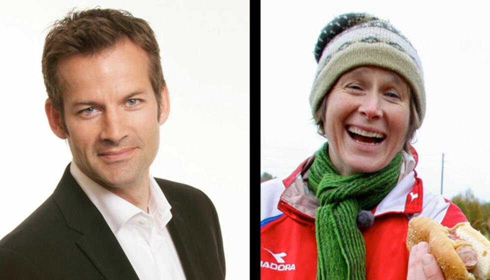 <strong>SEERMAGNETER:</strong> Jon Almaas og Linda Eide trekker millioner av seere til NRK, nå er de aktuelle som programlederduo i «Stjernekamp». Foto: NRK