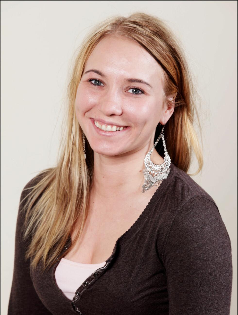 Navn: Cecilie Carolina Nøstvik Larsen Sted: Sørreisa Alder: 26 Yrke: Student Sivilstatus: Samboer Personlig eiendel: Varmeflaske Foto: TV3
