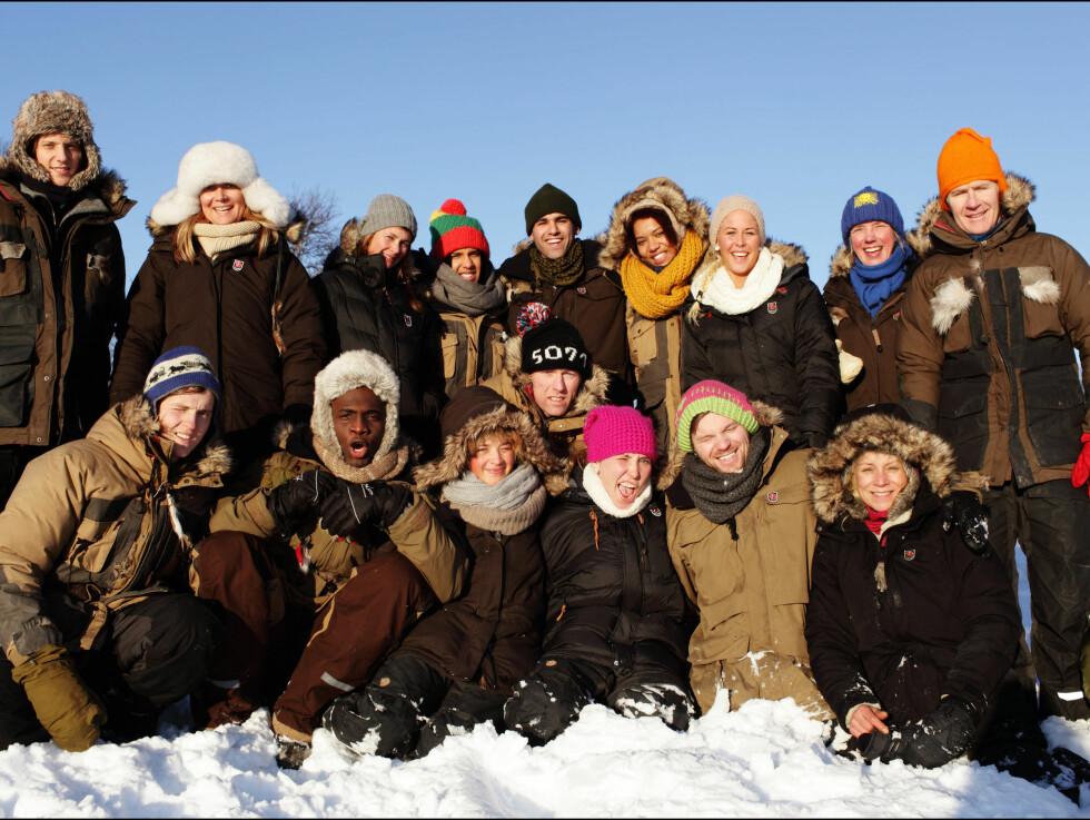 KALDT VÆR: Årets deltagere i «Vinter-Robinson» har kjempet like mye mot kuldegradene som hverandre under innspillingen. Foto: TV3