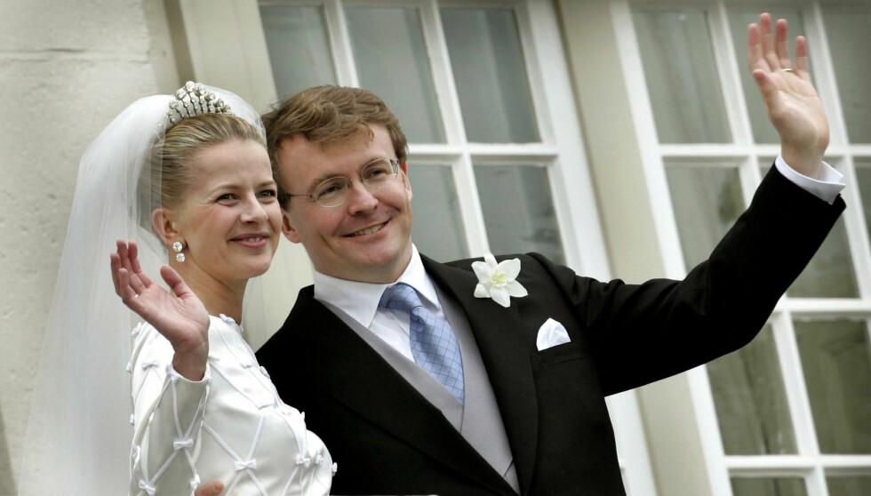 <strong>KONGELIGE HEDERSGJESTER:</strong> Prins Johan Friso giftet seg i 2004 med sin Mabel. Blant hedersgjestene var det norske kongeparet. Foto: Reuters