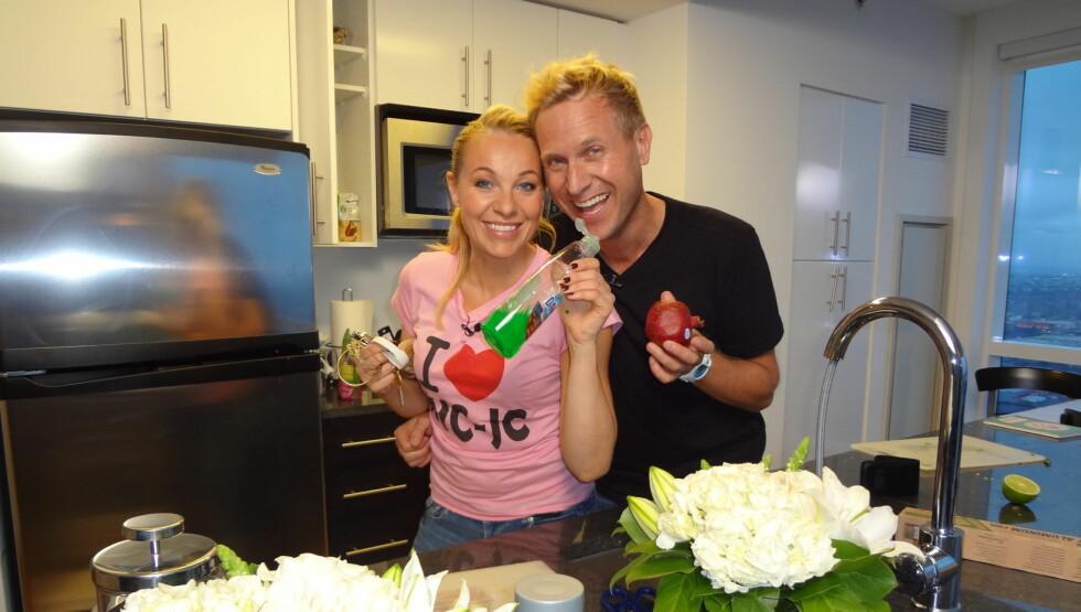 TOPPSUITE: Janne Formoe fikk låne en toppsuite i hotellet til sin gode venn Jarl Haugedal i New Jersey til innspillingen av TvNorge-programmet «Firestjerners middag». Foto: Privat/ Jarl Haugedal