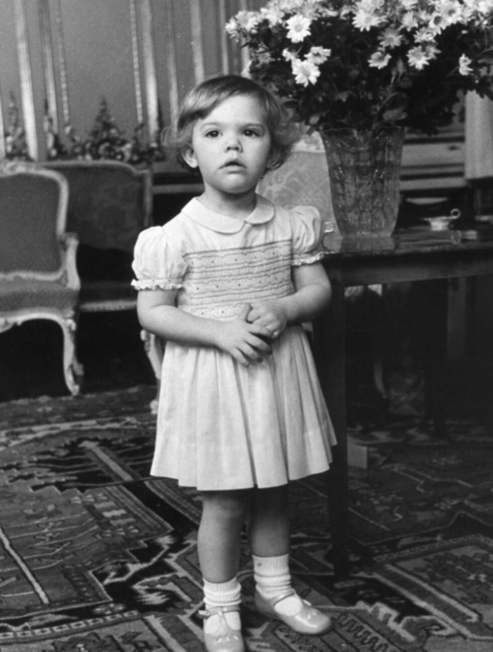 SØT JENTE: Kronprinsessen var svært sjarmerende allerede som 2-åring.  Foto: Stella  Pictures