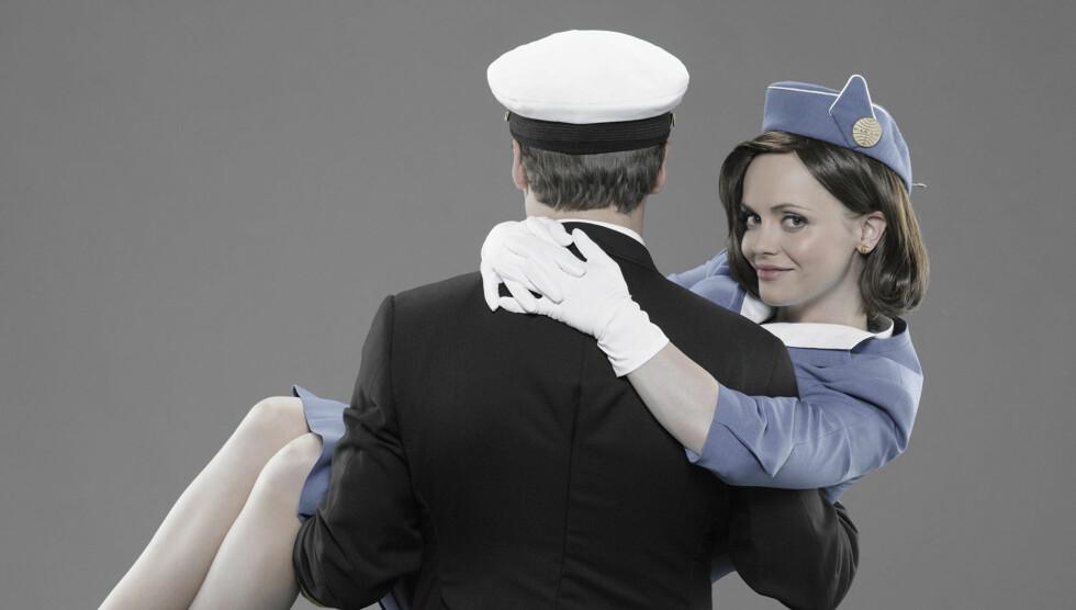 FANT KJÆRLIGHETEN PÅ JOBBEN: Christina Ricci kan takke rollen i «Pan Am» for at hun har funnet kjærligheten på nytt. Foto: TV3