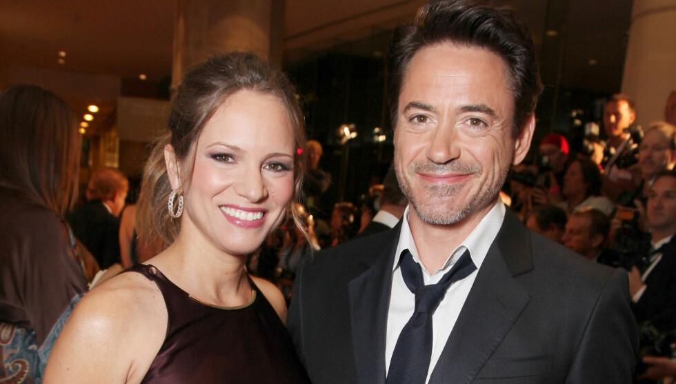 <strong>AVSLØRTE KJØNNET:</strong> Da Downey Jr. gjestet talshowet til Jay Leno i desember, røpet han at det ville bli en gutt. Det likte ikke kona. Foto: All Over Press