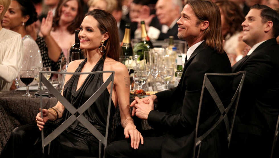 BARE FOR HAM: Angline Jolies «slemme» side er det bare Brad Pitt som får oppleve. Foto: All Over Press
