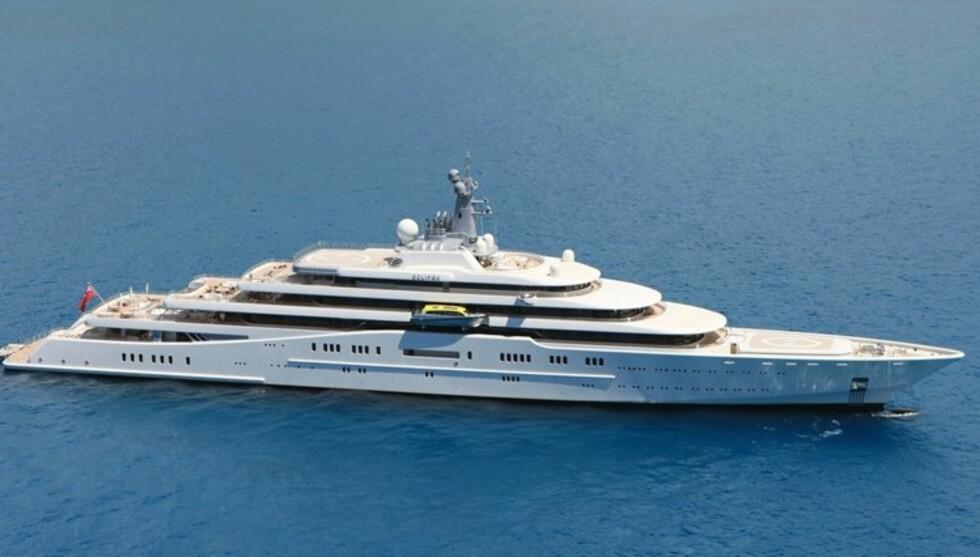 6000 KVADRATMETER: Chelsea-eierens fantastiske båt er nå til leie med mannskap på 75. Foto: Aker Yachts