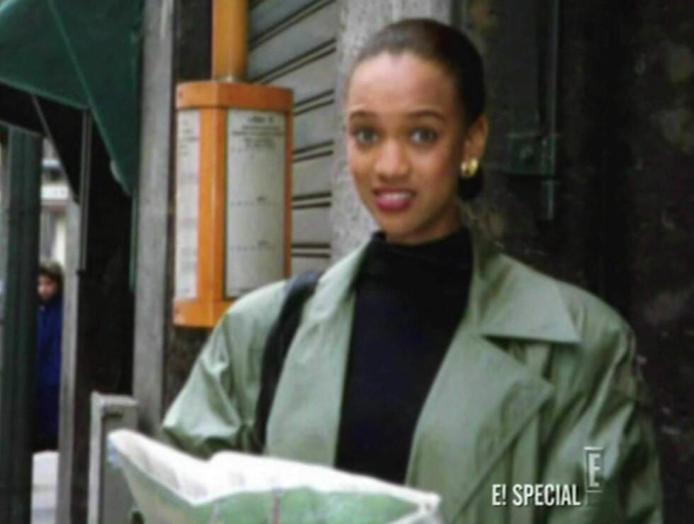 <strong>FØR:</strong> I det amerikanske TV-programmet «E! Entertainment Special: Tyra Banks» vises bilder av Tyra Banks fra den gang hun ikke var berømt. Foto: Stella Pictures