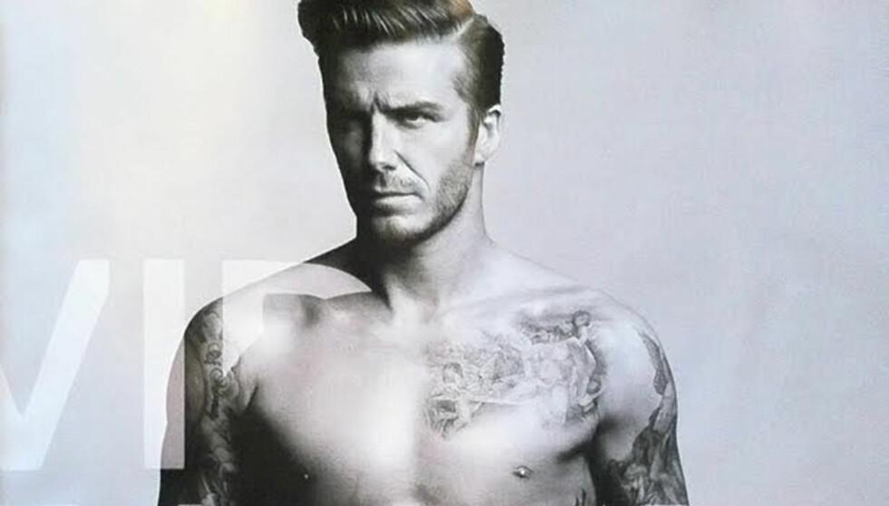 <strong>OFTE I REKLAMER:</strong> Beckham stiller ofte opp på reklamejobber. Foto: Stella Pictures