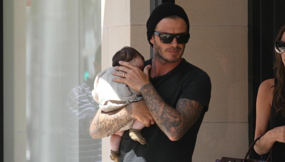 SPØKEFULL: Beckham sa at han er glad for å ha sikret lønna for de neste to årene, slik at han har råd til klærne datteren skal ha. Foto: All Over Press