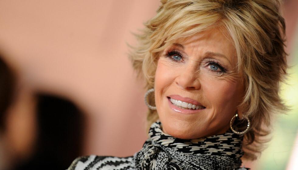 LYKKELIG: Etter at Jane Fonda skilte seg fra ektemann nummer tre er hun endelig tilfreds med tilværelsen. Foto: Stella Pictures