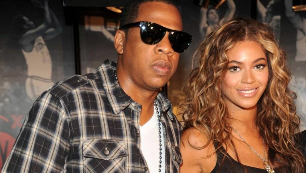 <strong>BLE FORELDRE:</strong> Det skapte store overskrifter verden over da Jay-Z og Beyonce ble foreldre for første gang, og de første bildene av babyen kan være verdt millioner.  Foto: All Over Press