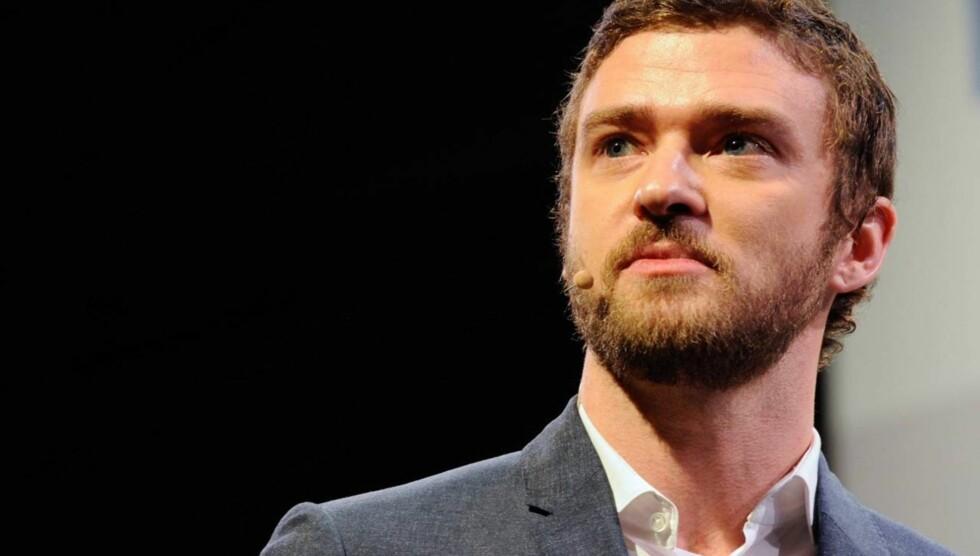 SKJEGG: Justin Timberlake holdt foredrag om Myspace-TV under et Panasonic-event denne uken. Foto: All Over Press