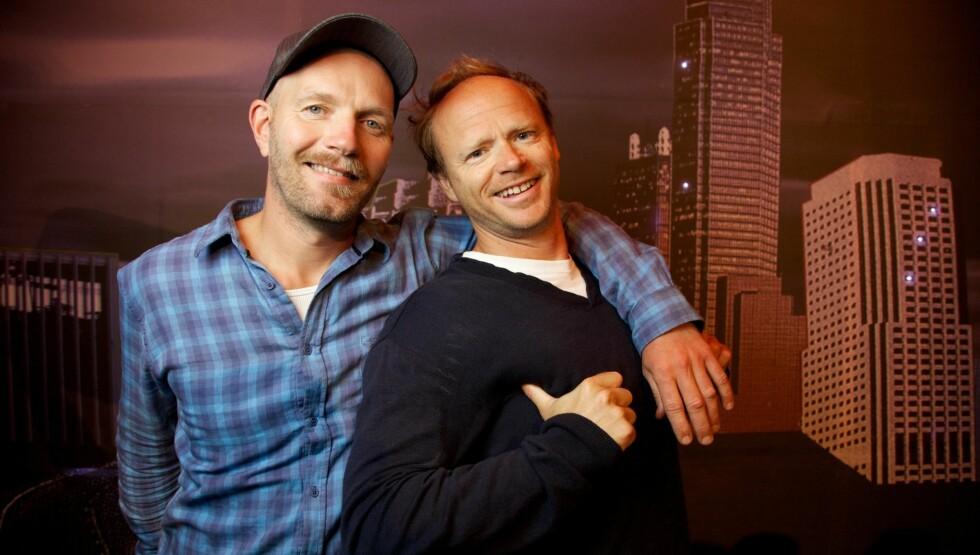 TILBAKE: Bård Tufte Johansen og Harald Eia er aktuelle med den nye serien Brille. Foto: Stella Pictures