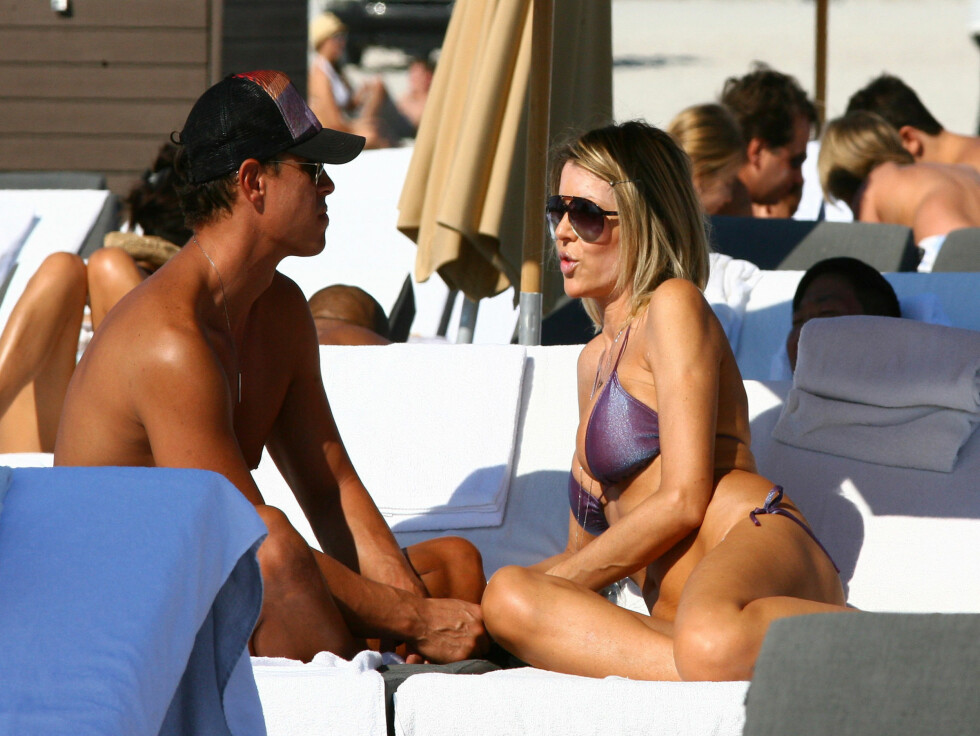 ROMANTISK: Rita Rusic og kjæresten så ut til å storkose seg i Miami i helgen. Foto: Stella pictures