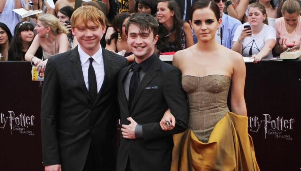<strong>FANT LYKKEN PÅ JOBB:</strong> Radcliffe ble sammen med kjæresten Rosanne Cooker da hun var assistent under innspillingen av «Harry Potter»-filmene.  Foto: All Over Press