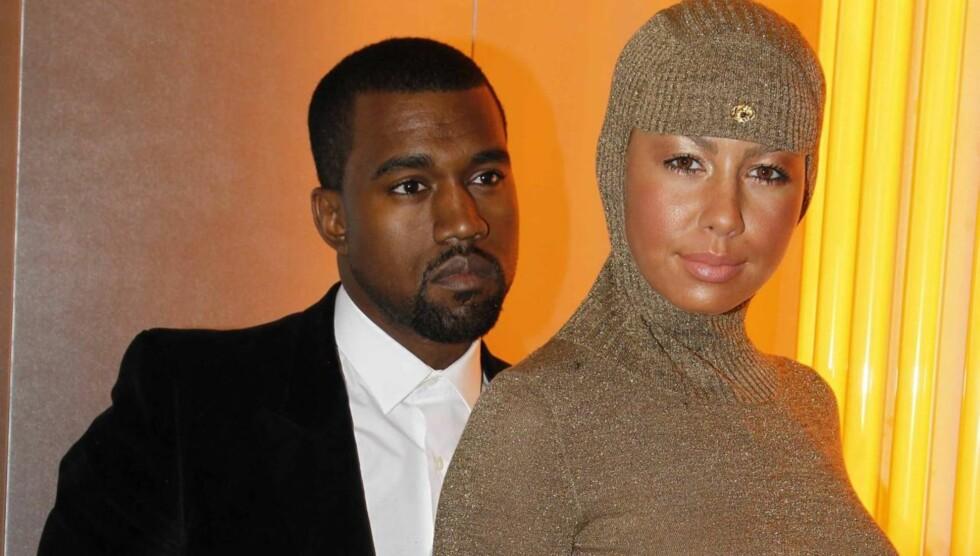 UTRO: Kanye Wests eks-kjæreste Amber Rose hevder rapperen var utro med realitystjernen Kim Kardashian.  Foto: All Over Press
