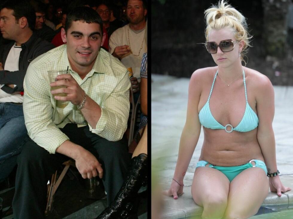KORTESTE: Britney Spears og ungdomskjæresten Jason Allan Alexander innehar nok tittelen Hollywoods absolutt korteste ekteskap. De to giftet seg i 2004, og søkte om annulering etter bare 55 timer.