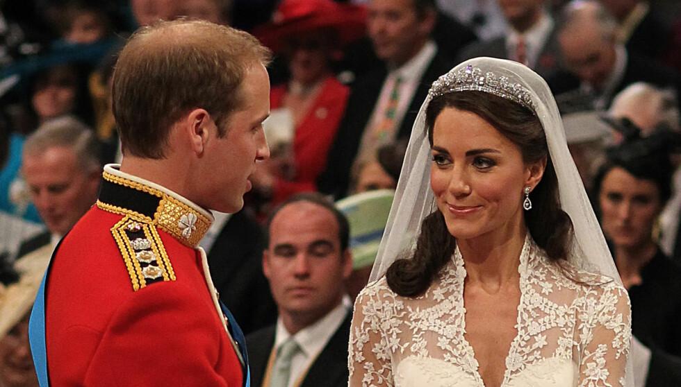 MANN OG KONE: Prins William fikk sin Kate i årets mest storslagne bryllup i London  i april. Foto: Reuters