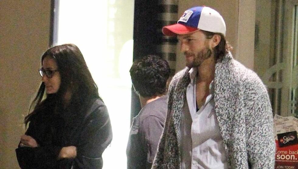 SKILLES: I forrige måned ble det kjent at Demi Moore og Ashton Kutcher skal skilles - med bakgrunn i Ashtons utroskandale med Sara Leal.  Foto: All Over Press