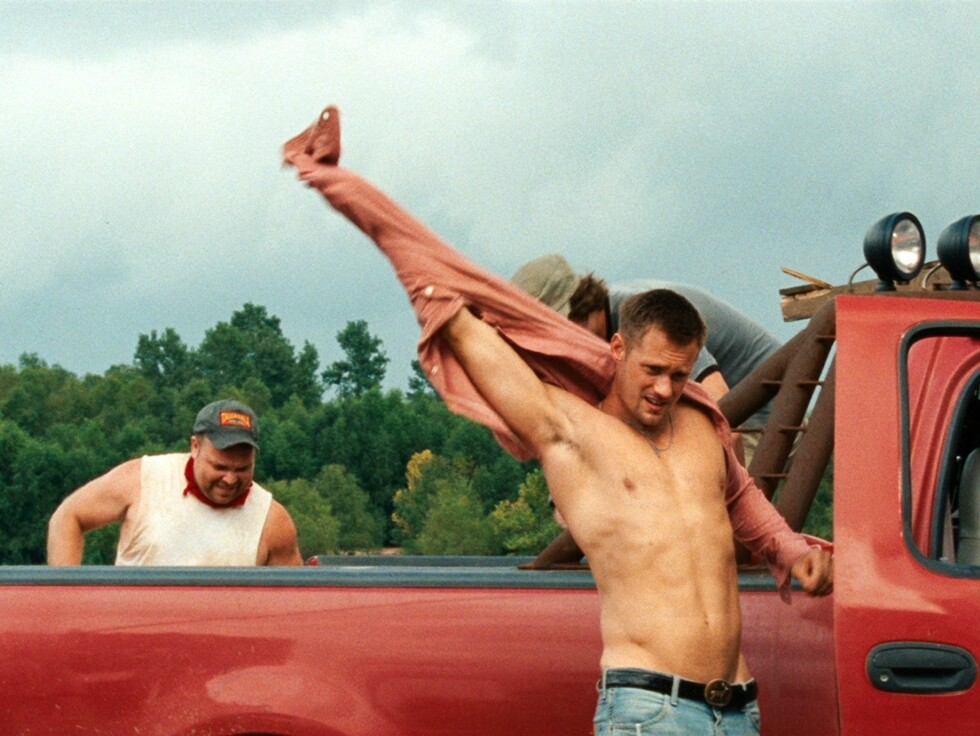 <strong>SÖTA BROR:</strong> Alexander Skarsgård (35) har smeltet mangt et hjerte i HBO-serien «True Blood». Her fra filmen «Straw Dogs».